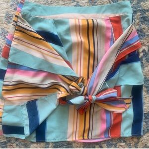 Striped Rainbow Mini Skirt